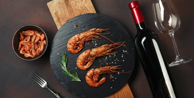 vino rosso e pesce